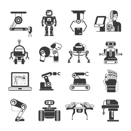 robot: iconos de inteligencia artificial Vectores