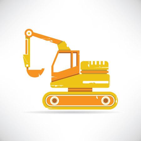 heavy equipment: excavator Illustration