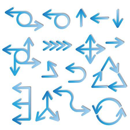 ways to go: blue arrows