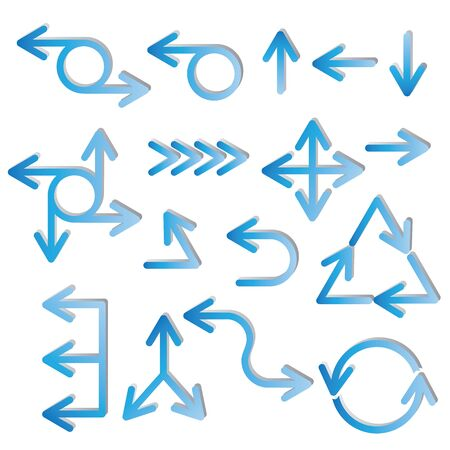 recycling symbols: blue arrows