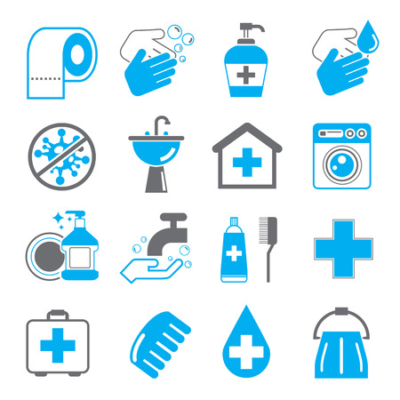 hygiene icons Stock Illustratie