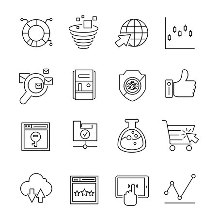web solution: seo and web solution icons