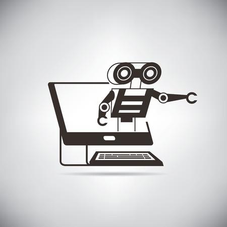 artificial intelligence, robot Фото со стока - 45756076