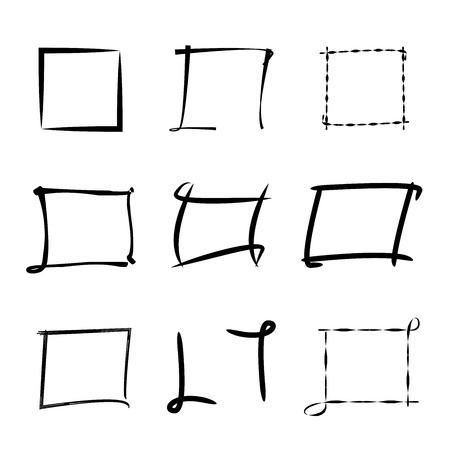 scrawl: black highlighting frames