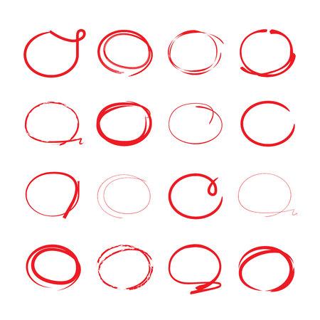 curved: highlighter circles Illustration
