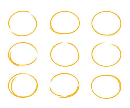 marker: círculos dibujados a mano