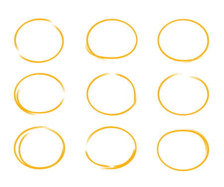 bubble speech: hand drawn circles