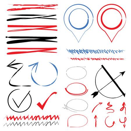 highlighter: underlines, arrows, highlighter elements