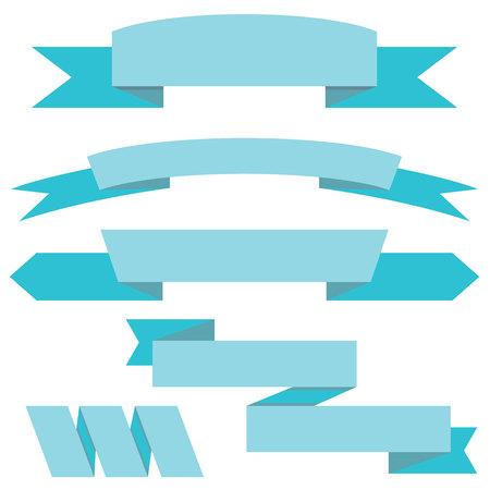 band: blue label banners, blue ribbons Illustration