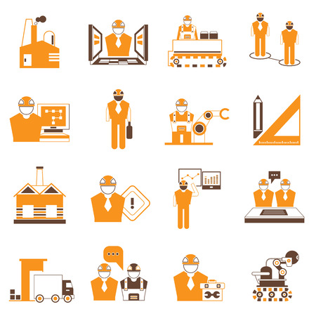 under control: industrial engineering icons