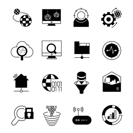 network and data icons