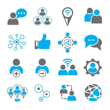 social media icons Banco de Imagens - 45756093