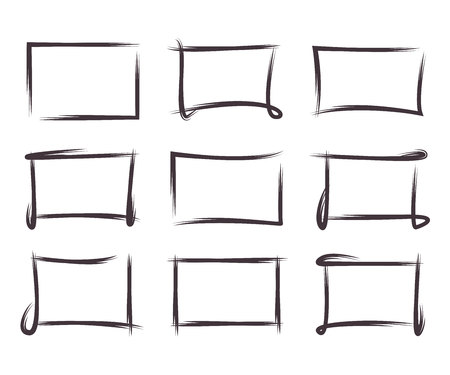emphasized: grunge rectangle frames