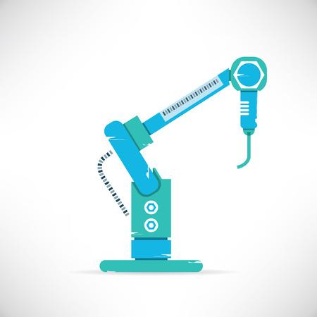 robotic: robotic hand Illustration