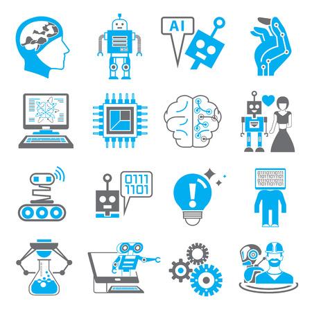 ロボットと人工知能のアイコン