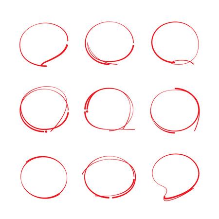 circles: red hand drawn circles