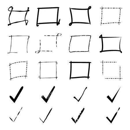 grunge frame: grunge frame and check list
