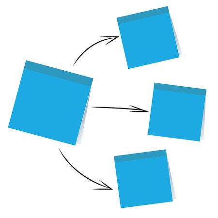 stick note: stick note paper chart