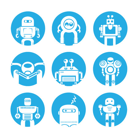 icons set: robot icons