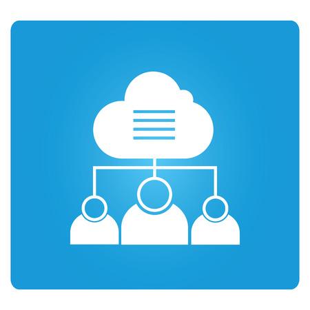 Cloud-based Collaboration Illustration