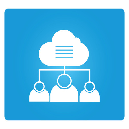 Cloud-based Collaboration Illustration