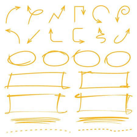 highlighter: arrows, highlighter elements Illustration