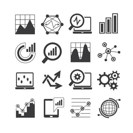 data analysis, analytics icons