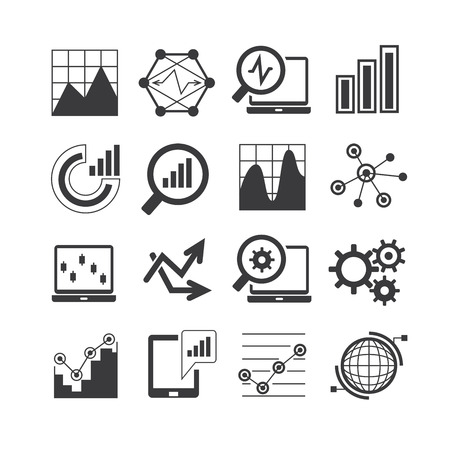 data analysis, analytics icons