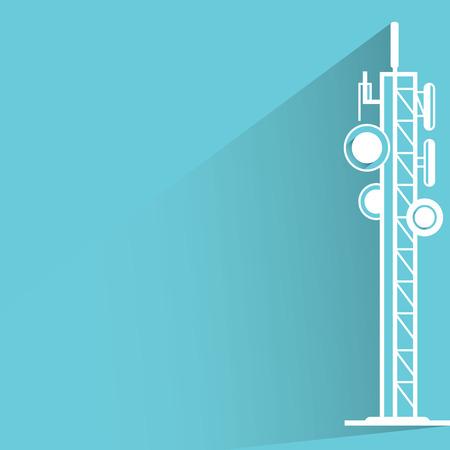 cell phone transmitter tower: antennas Illustration
