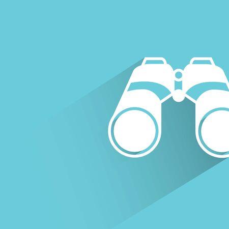 binocular: binocular on blue background Illustration