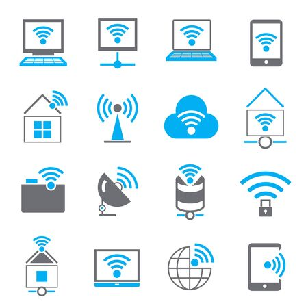 sattelite: internet, wireless icons