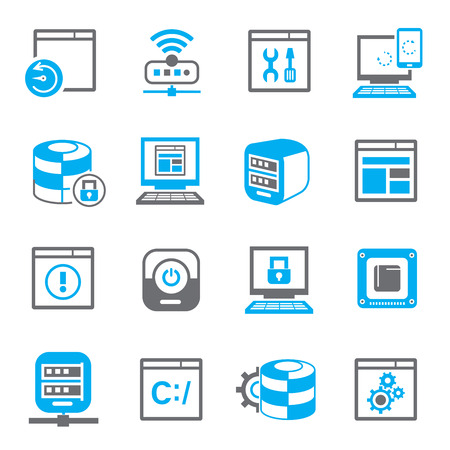 blue button: network icons