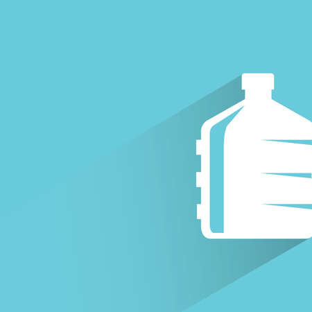 bottle with water: water bottle sign on blue background