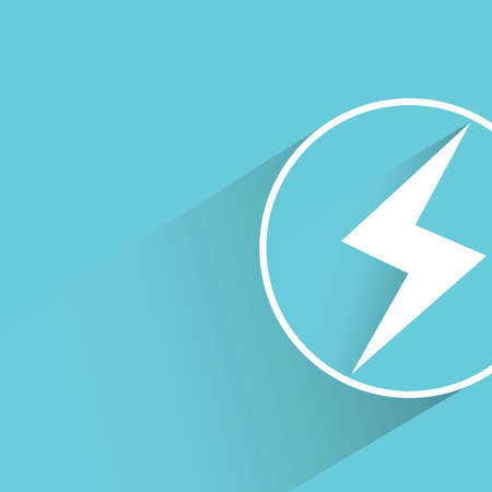 electrics: electricity power on blue background