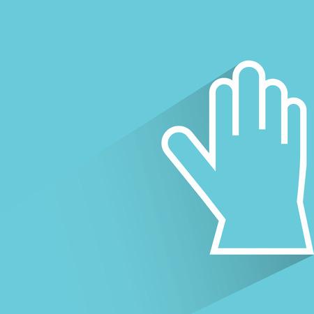 glove: glove on blue background
