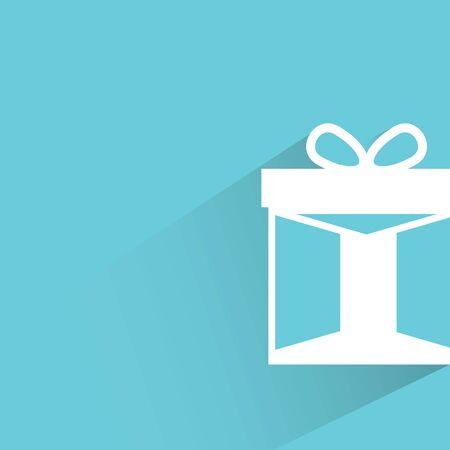 gift season: gift on blue background