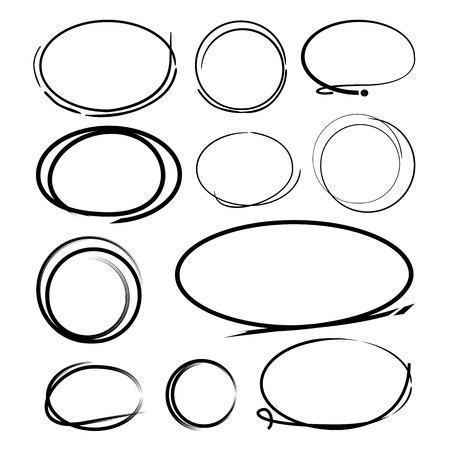 circle abstract: brush line circle