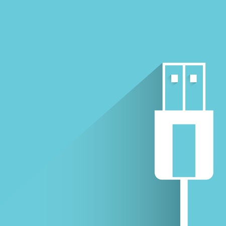 ethernet cable: usb plug Illustration