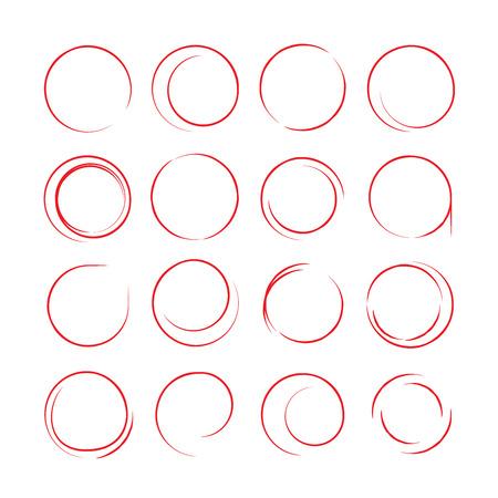 encircle: sketch marker elements Illustration