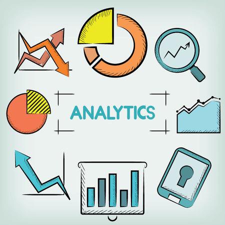dealings: analytics concept Illustration
