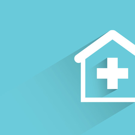 homes: medical home on blue background