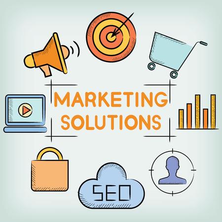 solution: marketing solution Illustration