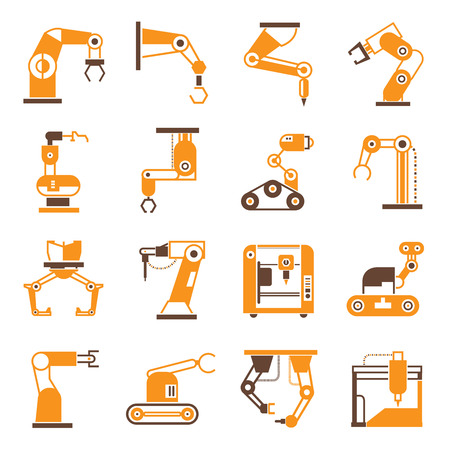 manufacturing occupation: robot icons