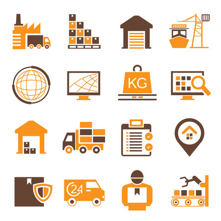 cadenas: iconos cadena de suministro