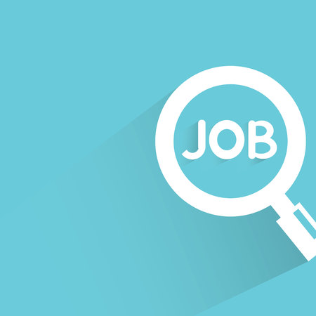metier: job search on blue background Illustration