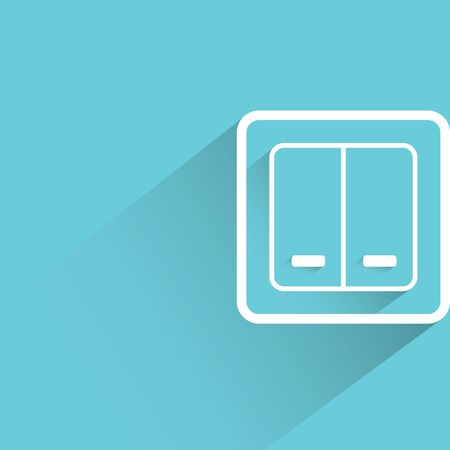 push room: switch on blue background Illustration