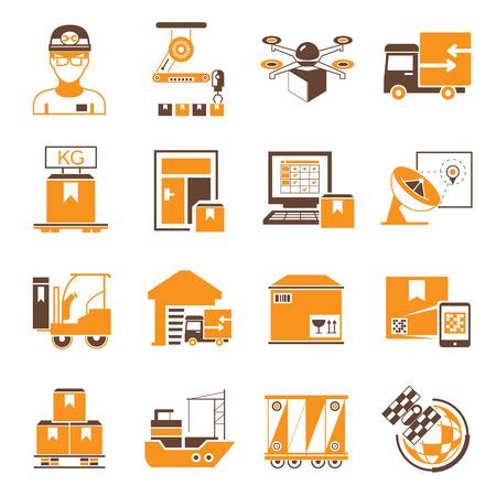 trades: shipping nad warehouse management icons