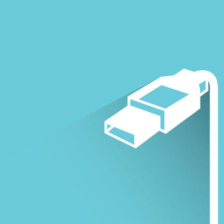plug: usb plug Illustration