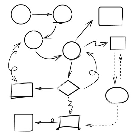 garabatos: diagrama de boceto