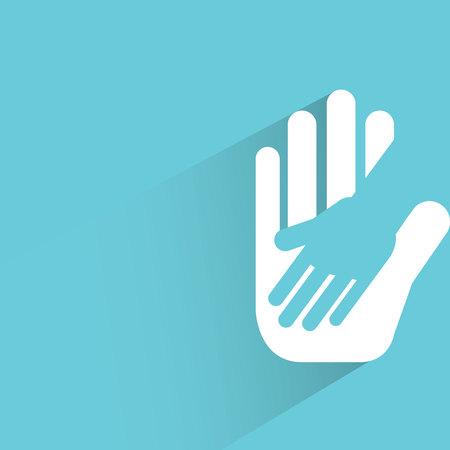 symbol hand: h�lt die Hand, helfende Hand Illustration